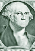 Likeness of George Washington on one dollar bill — Stock Photo