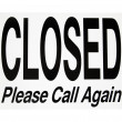 Stock Photo: Closed Sign - Photo Object