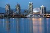 Vancouver bc, kanada panoramę, fotografia gród — Zdjęcie stockowe
