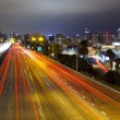 San Diego Skyline, Freeway - Stock Photo