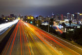 San Diego Skyline, Freeway — Photo