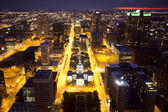 Downtown st. louis skyline in de nacht — Stockfoto