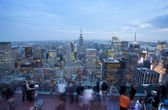 Empire state building och new york skyline — Stockfoto