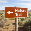 Nature Trail Sign in Remote Area - Stock Photo