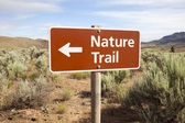 Nature Trail Sign in Remote Area — Stock Photo