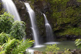 Triple Tropical Waterfall — Stock Photo