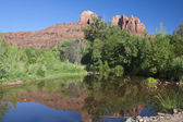 Cathedral Rock Reflection, Sedona Arizona — Stock Photo