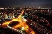 Automobile outcome of a night city — Stock Photo