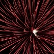 Stock Photo: Single large red starburst fireworks