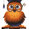 Wise Owl - Stock Vector