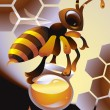 Honeybee - Stock Vector