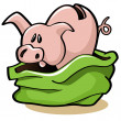 Pig in a Poke — Stock Vector