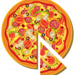 Italian Pizza - Stock Vector