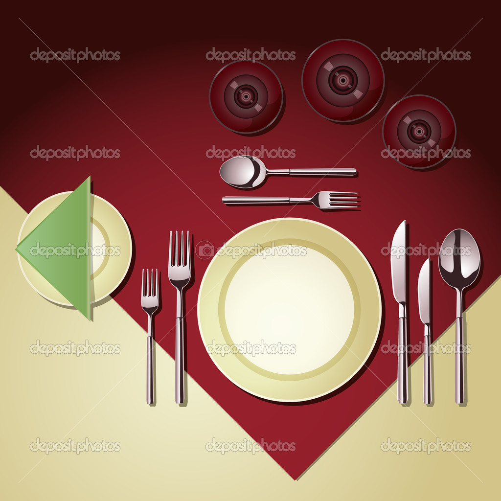 Place setting stock vector bicubic 5756778 for Place setting images