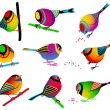 Collection of Colorful Birds — Stock Vector #5814534
