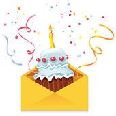 Cake in Envelope — Stock Vector