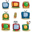 Stock Vector: TV Icon Set