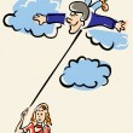 On Cloud Nine — Stock Vector