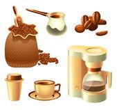 Zestaw do kawy — Wektor stockowy
