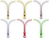 Zipper Fasteners — Stock Vector