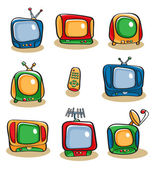 TV Icon Set — Stock Vector