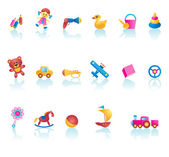 Kid Toys Icon Set — Stock Vector