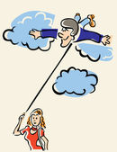 On Cloud Nine — Stock Vector