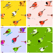 Birds Seamless Pattern Tiles — Stock Vector