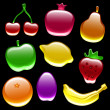 Glossy Fruit Collection — Stock Vector #6033956
