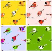 птицы бесшовные плитка — Cтоковый вектор