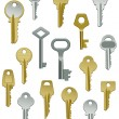 Collection of Keys Set Two — Stock Vector
