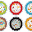 Collection of Petri Dishes — Stock Vector