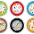 Collection of Petri Dishes — Vector de stock