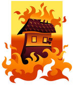 Wildfire — Vector de stock