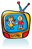 Kids On TV — Stock Vector