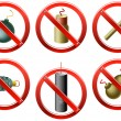 Stock Vector: Firecrackers Banned