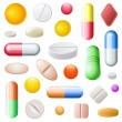 Pills Set — Stock Vector