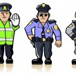 Stock Vector: Police Officers