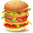 Hamburger — Stock Vector