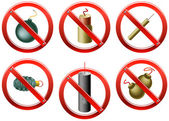 Firecrackers Banned — Stock Vector