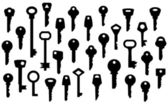 Key Silhouettes — Stock Vector