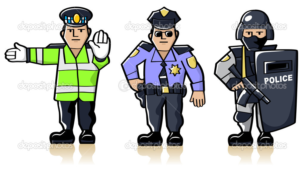 Рисунки сотрудников полиции