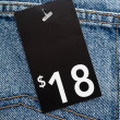 Price tag — Stock Photo