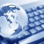 Globe and Computer Keyboard — Stock Photo #5752991