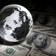 Globe and dollar — Stock Photo #5753066