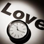 Love and clock — Stock Photo