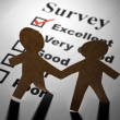 Survey and Paper Chain Men — Stock Photo #5754021