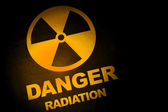Radiation hazard sign — Stockfoto