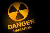 Strahlung gefahr zeichen — Stockfoto