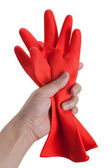 Red Rubber Glove — Stock Photo